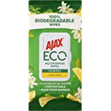 Ajax Eco Multipurpose Antibacterial Disinfectant Biodegradable Compostable Surface Cleaning Wipes Fresh Lemon Bulk Pack 110 P