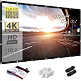 Mdbebbron 150 inch Projection Screen 16:9 HD Foldable Anti-Crease Portable Projector Movies Screen for Office Home Theater Ou