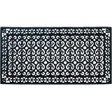 A1 Home Collections A1HCCL67-30 x60 Doormat A1HC First Impression Rubber Paisley, Beautifully Hand Finished,Thick, 30X60 Blac
