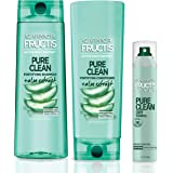 Garnier Hair Care Fructis Pure Clean Shampoo, Conditioner, and Dry Shampoo, Made With Aloe and Vitamin E Extract, Vegan and P