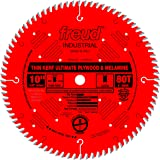 Freud 10 In. 80 Tooth Thin Kerf Ultimate Plywood & Melamine Saw Blade with 5/8 In. Arbor (LU79R010)