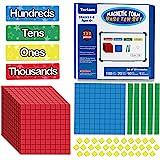 Torlam 135 PCS Magnetic Base Ten Blocks - Place Value Blocks -Math Manipulatives K-3 for Elementary Classroom, Number Blocks,