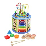 Activity Cube Wooden Center 8-in-1 Educational Toys Best Learning Toys for Boys or Girls