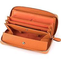 多機能 財布 牛革 レシート すっきり 長財布 レディース 大容量 本革 ラウンドファスナー ウォレット BOX型小銭入…