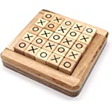 Wooden Board Games Tic Tac Toe in Pushing Me XO Fun Family Games to Play in Box Strategy Board Games for Families to Challeng