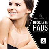 4 PACK - ElegantFully Anti Wrinkle Chest Pads - Reusable Silicone Pad for Décolleté and Wrinkle Prevention - Lightweight and