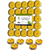 50 Citronella Oil Scented Tea Light Candles Indoor/Outdoor Up to 4 Hours Burn Time - 50 Pack