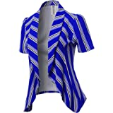 Awesome21 Women's Classic Short Sleeve Blazer