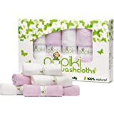 Pupiki Baby Washcloths – Soft Baby Wash Cloths for Face & Body, Gentle on Sensitive Skin – Baby Towels with Bamboo Made from