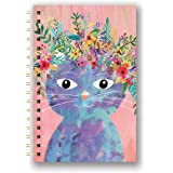 Studio Oh! Hardcover Medium Spiral Notebook Available in 9 Designs, Mia Charro Fancy Cat