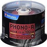 バーベイタムジャパン(Verbatim Japan) 1回記録用 CD-R 700MB 50枚 レコードデザイン 48倍速 SR80PH50V1