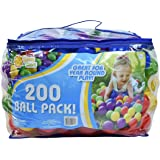 200 Ball Pack – Phthalate and BPA Free Crush Proof Plastic Balls Play Ball Pit in Assorted Colors– Sunny Days Entertainment