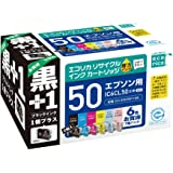エコリカ エプソン(Epson)対応 リサイクル インクカートリッジ IC6CL50+ICBK50 6色セット+ブラック(目印:ふうせん) ECI-E506P+BK