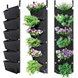 NEWKITS Vertical Wall Garden Planter with 6 Pockets Best Plant Growth Design Large Space Waterproof Breathable Use for Hangin