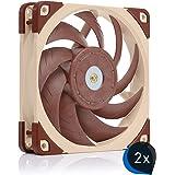 Noctua Bundle: 2x NF-A12x25 PWM, Premium Quiet Fan, 4-Pin (120mm, Brown)