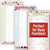"""Mom's HQ Family Planner - 2021 Hangable Wall Calendars by Red Ember Press - 12"""" x 24"""" When Open - Thick & Sturdy Glossy Gloss"""