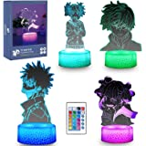 My Hero Academia Dabi Figure 3D Anime Lamp - 4 Pattern 16 Color Change Birthday Xmas Perfect Gifts for Boys Girls Kids Room D