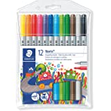 STAEDTLER 320 NWP12 ST Noris Club Fibre Tip Pens With Two Tips