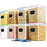 Cereal Container Food Storage Containers, Blingco Set of 8 (2.5L/85oz) Airtight Dry Food Storage Containers with Lids - BPA F