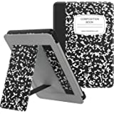 MoKo Case Fits All-New Kindle (10th Generation - 2019 Release), Slim PU Leather Stand Smart Cover Shell with Hand Strap, Will