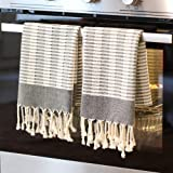BRIDGE ISTANBUL Turkish Hand and Kitchen Towels- Prewashed, Decorative Kitchen and Bathroom Hand Towel for Face, Hair, Gym, Y