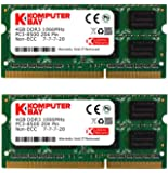 Komputerbay ノートPC用メモリ SO-DIMM-DDR3 (1066Mhz PC3-8500 1.5V 4GBx2)