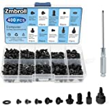 Zmbroll 400Pcs Computer Screws Standoffs Kit SSD Screw for Universal Motherboard PC Computer Case Screw Fan CD-ROM with Screw