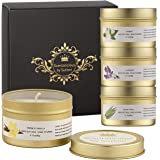 SCENTALICIOUS Scented Candles Gift Set, Aromatherapy Candles for Women, Valentines, Birthday, Diwali - Pure Soy Wax & Essenti