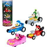 Disney Junior Mickey Mouse Diecast Cars 4-Piece Set, Toy Vehicles, by Just Play