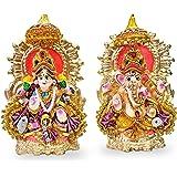 "6"" Beautiful Pair of Lord Ganesha and Lakshmi Clay Statue for Diwali/Deepawali Pooja puja. Laxmi Ganesh Statue. Diwali Pooja."