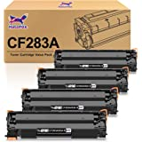 HaloFox Compatible Toner Cartridge Replacement for HP 83A CF283A Work with HP Pro MFP M201dw M225dw M125nw M127fw M127fn Prin