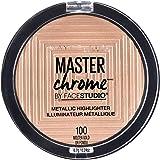 Maybelline Master Chrome Metallic Highlighter Powder - Molten Gold,4.5g