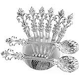 "Mini Spoons Set of 8 by Movalyfe Kitchen - Coffee Espresso Demitasse Vintage Spoon 4.5"" Long (Sliver)"