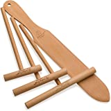 "The ORIGINAL Crepe Spreader and Spatula Set - 4 Piece (7"", 5"", 3.5"" Spreaders and 14"" Spatula) Convenient Sizes to Fit Any Cr"
