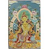 Prime Feng Shui Silk Embroidery Tibetan Thangka with Green Tara/Kashgari Buddha/Four Arms Kwan Yin Avalokitesvara Wall Hangin