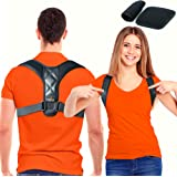 Trabee Posture Corrector for Women and Men with Underarm Pads - Adjustable Upper Back Brace for Neck, Shoulder and Back Suppo