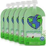 Healthy Planet Solutions Reusable Food Pouch Clear Plastic Storage - Washable Freezable Refillable Resealable - Double Leak P