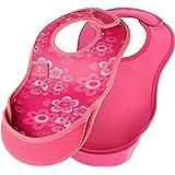 Bibetta ビベッタ 防水くるくるエプロン ウルトラビブ M ミディアム 2枚入 Butterflies/Pink バタフライ/ピンク