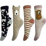 LOTUYACY Womens Girls Cute Animal Casual Socks Comfort Funny Cotton Crew Socks 4 Or 5 Pack