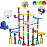 Marble Run - 160 True Pieces -Tested By Teachers - This is a Magic Marble Run Genius Set for Kids with FLASHING MARBLES. Idea