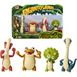 """Gigantosaurus Character Figures 4 Pack with Articulated Arms & Tails, Dinosaur Toys Stand Approx. 3-3.5"""" Tall, Dino Toy Figur"""