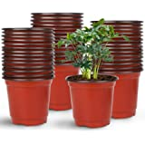 """Augshy 75 Pcs 4"""" Plastic Plant Nursery Seed Starting Pots for Succulent Seedling Cutting Transplanting"""