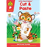 School Zone - Cut & Paste Skills Workbook - Ages 3 to 5, Preschool to Kindergarten, Scissor Cutting, Gluing, Stickers, Story