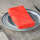 LA Linen 10-Pack Polyester Poplin Napkins 17 by 17-Inch, Coral