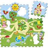 Chicco Toy Puzzle Play Mat Castle, 9 Count, Mixed