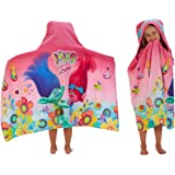 "Franco Hooded Towel Wrap, HH4638, Cotton, Trolls, 24"" x 50"""