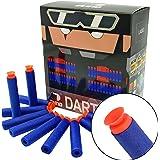 EKIND 100Pcs Suction Darts Compatible for Nerf N-Strike Elite Blaster (Blue)