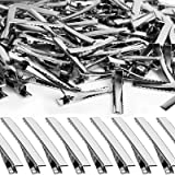 YGDZ Alligator Hair Clips, Silver Metal Single Prong Duck Bill Alligator Curl Clips with Teeth, DIY Crafts Arts Projects Hair