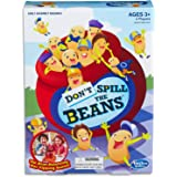 Hasbro C0203 Don't Spill The Beans - Bean Balancing, Pot Tipping - 2 Players - Preschool Kids Toys & Games - Ages 3+,Red, Ora