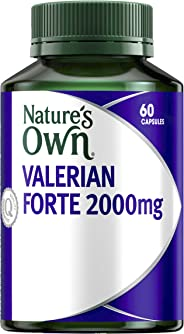 Nature's Own Valerian Forte 2000mg - Relaxant for Mild Anxiety - Provides Insomnia Relief - Calms the Nerves